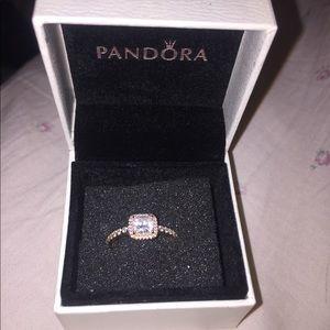 Pandora rose gold Timeless Elegance ring